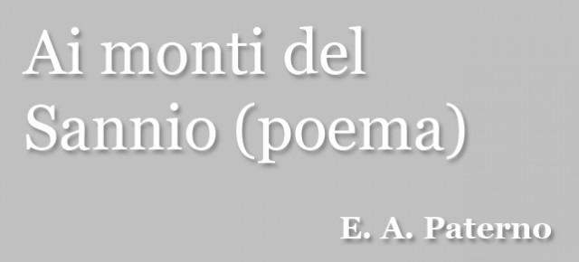 Ai monti del Sannio (poema)