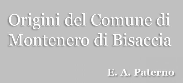 Origini del Comune di Montenero di Bisaccia