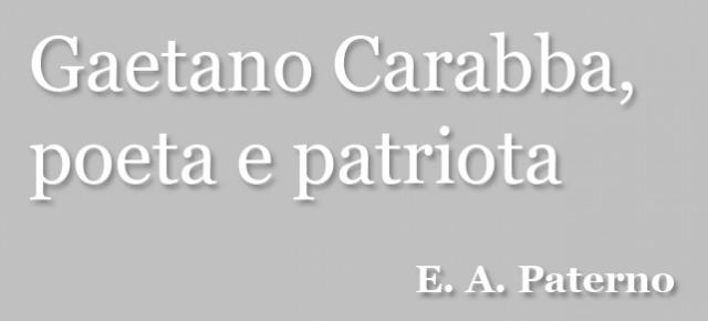 Gaetano Carabba, poeta e patriota